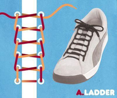 1ed51c29b4663f まず靴ひもの両端をまっすぐ、つま先の両方の穴の下から外へ出します。 2. そのまま2本をまっすぐ次の穴へ外から通します。