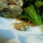 牡蠣のニンニクバター醤油炒め
